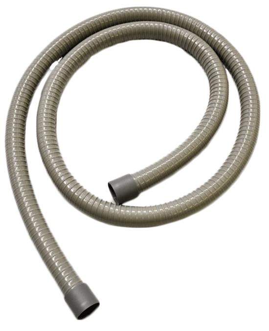 Saugschlauch grau, Spraynebel, D=17,5, L=1530 mm