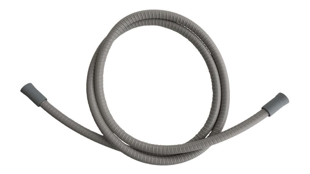 Saugschlauch grau, Speichelzieher, ID=10, L=1800 mm